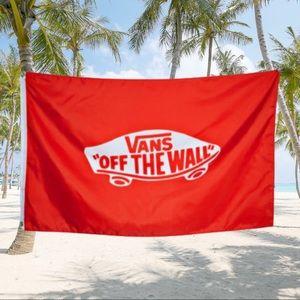 """COLLECTORS 💙 FLAG VANS OF THE WALL LOGO 30 X 48"""""""